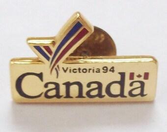 1994 Commonwealth Games Victoria BC Canada Souvenir Pin