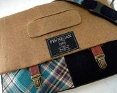 """Messenger Bag, Mens 15"""" Womens laptop Messenger Bag , 15""""  Macbook Pro Laptop Sleeve, tote bag, Suit coat Upcycled bag"""