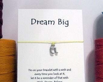 SALE Dream Big Music Note  Wish Bracelet