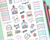 Printable SCHOOL stickers! - Digital File Instant Download- school work, college, teacher, homeschool, planner girl, bando, happy planner