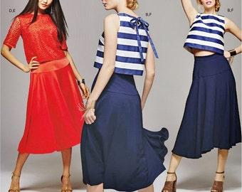 Midi Top and Yoked Skirt Pattern, Simplicity Sewing Pattern 8128