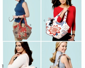 Totes Pattern, Lined Cloth Bag Pattern, Tote Bag with Pockets Pattern, Butterick Sewing Pattern 5658