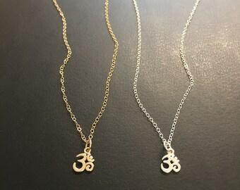 Om Necklace, Yoga Jewelry