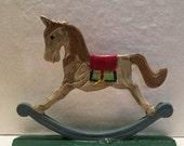 Vintage Cast Iron Rocking Horse Door Stop Bookend Home Decor