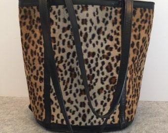 Vintage Leopard Handbag