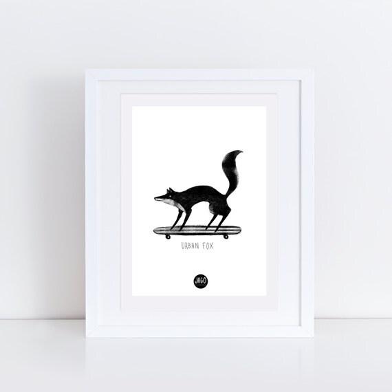 Urban Fox   Signed Print