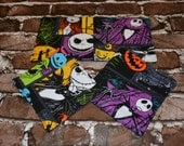 Nightmare Before Christmas Coaster Set of 4