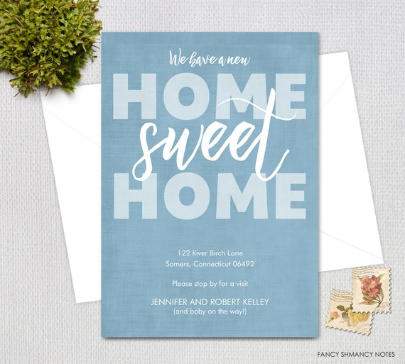 moving announcement home sweet home shabby moving announcement