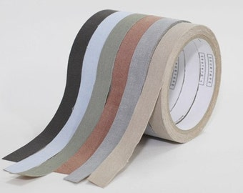 Adhesive cotton fabric tape 15mm x length 5m -12 colors