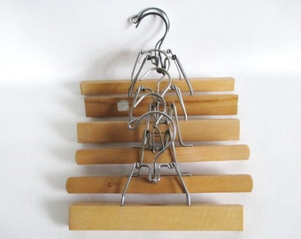 6 Vintage Wood Pant Skirt Picture Hangers