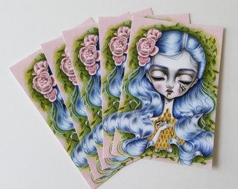 Pack of 5 Postcards-Stung