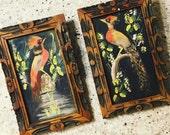 1950s Bird Mexican Hanging Art • Ethnic Art • Home Decor • Bohemian Art