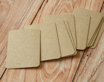 500pc RIBBED Brown Eco Series Business Card Blanks