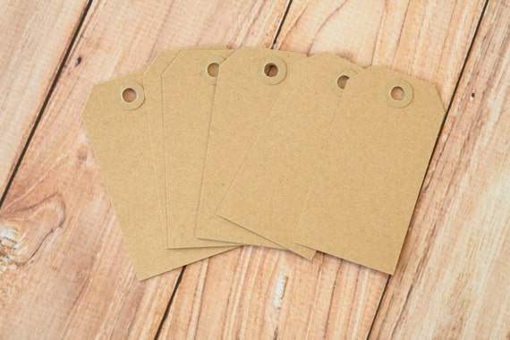 50pcs Large Old Fashioned Kraft Brown Luggage Tags