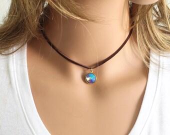 Swarovski Rivoli Choker - Crystal Choker - Choker Necklace - Rivoli Choker - Choker Necklace - Simple Necklace - Celebrity Inspired