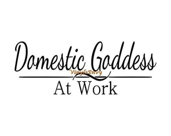 Domestic Goddess At Work - Wall Decal - Kitchen Wall Decal, Vinyl Wall Decals, Wall Decor, Kitchen Decor, Kitchen Decal
