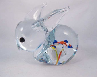Blown Glass Bunny Rabbit Paperweight Stunning!
