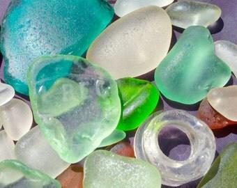 Beach Glass Sea Glass of  Hawaii beaches WRITING! COCA-COLA For Pendants! Bulk Sea Glass! Mosaic Tiles!