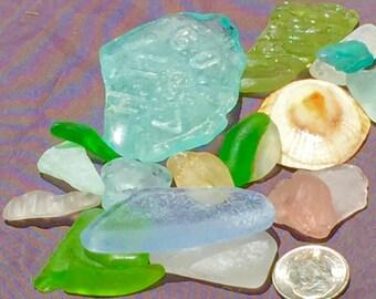 Sea Glass from Hawaii Sale! WRITING! BLUE! PATTERN! Ice blue! Bulk Sea Glass! Mosaic Tiles! Rare Colors! Cobalt Sea Glass!