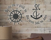 Be The One To Guide Me....Beach Wall Quotes Words Beach Decals Lettering Nautical Theme