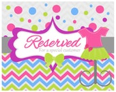 Reserved listing for Danielle
