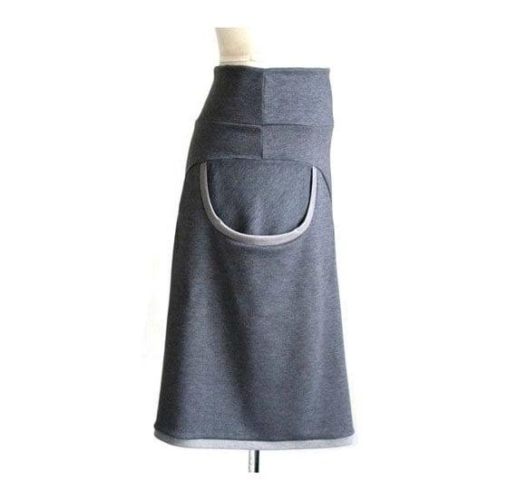 Womens skirt, Pocket skirt, A line skirt, Grey skirt, Midi skirt, Custom size skirt, Casual skirt, Skirt with pockets, Long skirt, Skirt