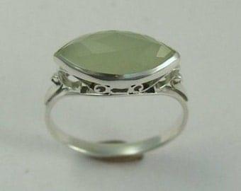 jade silver ring green gemstone ring victorian ring antique ring gemstone ring - Jade Wedding Ring