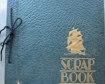 Vintage Scrapbook Filled with Newspaper Comics from 1930s-1950s