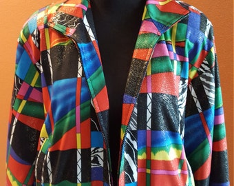Bright and Colorful Carina Vintage Jacket - 1980'S