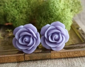 Flower Plugs, Wedding Gauges, Prom Gauges, Light Purple, Roses