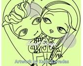 Edward and Bella Digital Stamp