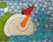 Hello Birdie Snowman and Cardinal Mug Mat PDF Pattern