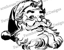 Santa #1  .SVG/.DXF/.PNG for use w/ Silhouette Studio and other Cutters -- Instant Download