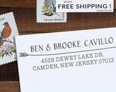 Custom Address Stamp, Personalized Address Stamp, Arrow Stamp, DIY, Boho Wedding Address Stamp, Eco Mount or Self Inking - Cavillo