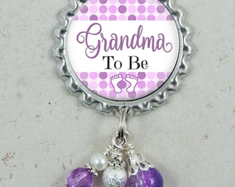 Grandma To Be Pin, Pregnancy Reveal, Baby Shower Gift, Brooch Pin, New Mom, Aunt, Great Grandma, Pregnancy Announcement