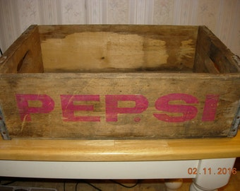Vintage Pepsi Crate - Home decor - Advertising