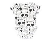 SALE - Baby Onesie, Baby Bodysuit, Baby One Piece, Organic Onesies - Black and White, Gender Neutral - Short Sleeve, Long Sleeve
