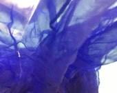 Extra long  Silk gauze Scarf for Nuno Felting