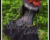 BLACK WIDOW Tutu and Corset Set with Belt, Gloves and Wig
