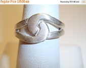 FALL SALE: Brushed Sterling Silver Knot Ring - HANDMADE with Lost Wax Casting Techniques - .925 Sterling Silver - Size 7, Fathers Day, Dads