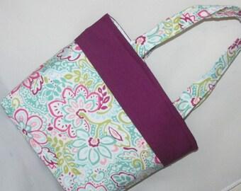 Burgundy Paisley ~ Shoulder Bag~ Purse ~ Small Tote Bag ~Small Purse ~ Tote ~ Girls purse!
