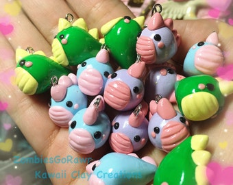 Kawaii Dino Godzilla Pastel Slug