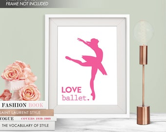 LOVE BALLET - Art Print (Featured in Hot Pink) Love Dance Art Print and Poster Collection