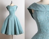Reserved /// Vintage 50s Dress | 1950s party dress | 50s cocktail dress xs/s | 5661