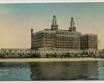 Hotel Chamberlin Old Point Comfort Virginia handcolored postcard