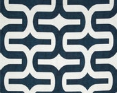CLEARANCE SALE 1 yard Premier prints embrace navy blue geometric fabric