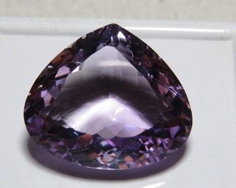 AMETHYST - Excellent Top Grade High Quality Fine Cut Faceted - Natural Purple Color Clean Super Sparkle Heart shape Stone Huge size 18x20 mm