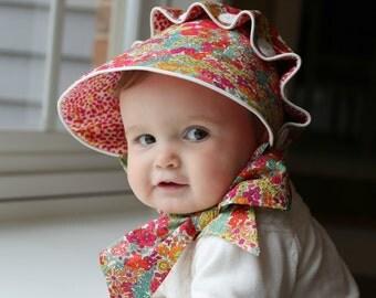 PDF Josie Mae Bonnet - Baby Girl Button Bonnet Pattern - Size Newborn - Size 4