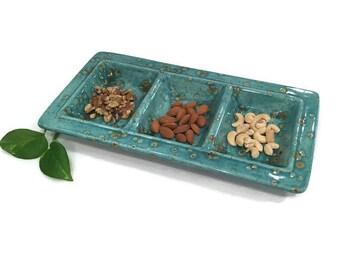 Sectional Serving Platter - Bali Blue