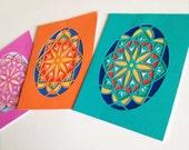 paper cut Pysanka cards